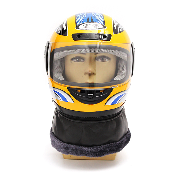54-61CM Motorcycle Full Face Helmet With Scarf Shield Electric Scooter Vintage Casque