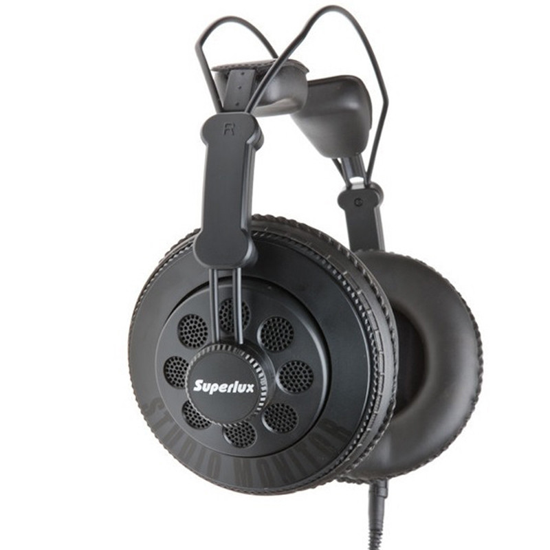 Superlux HD668B Professional Semi-open Dynamic Headbrand Studio Standard Headphone For DJ Music Lubbock Ad b.