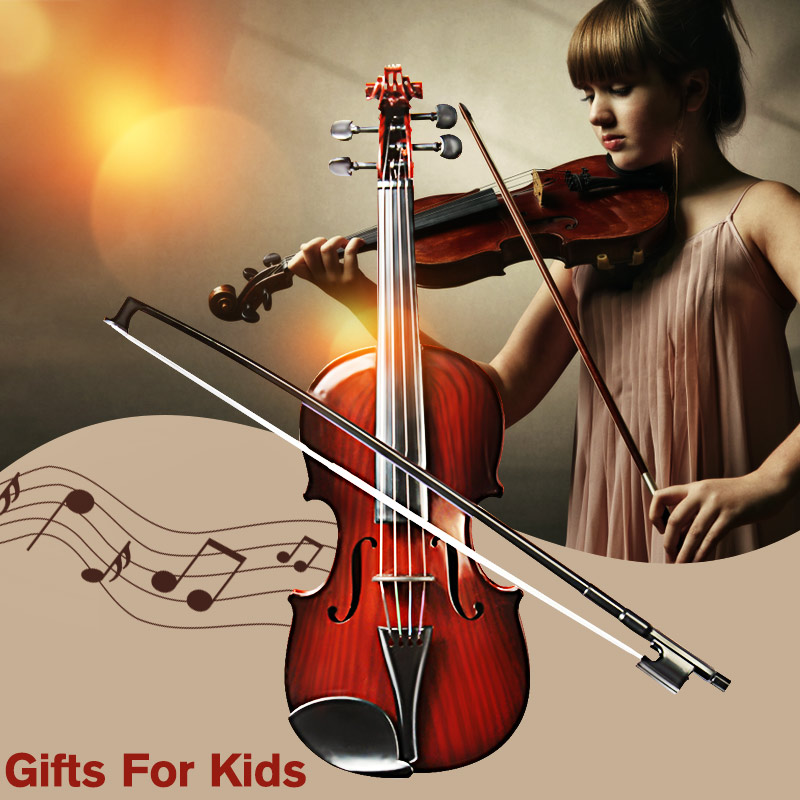 4/4 Ukuran Penuh Plastic Adjustable String Kids Instrument Simulation Violin Toys