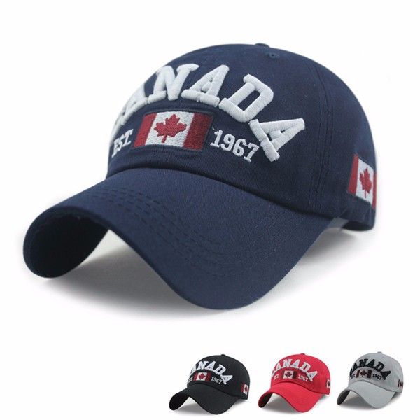 Unisex Casual Promotion Hat Canada Embroidery Baseball Cap Flag Snapback Adjuatable Hat