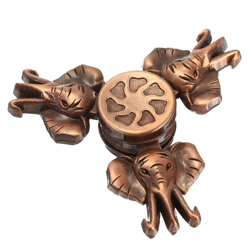 Elephant Shape Tri Spinner Rotating Fidget Hand Spinner ADHD Autism Reduce Stress Toys