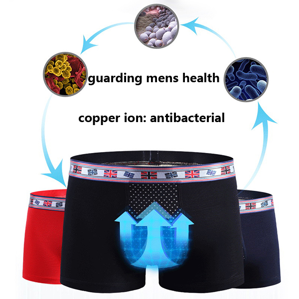 Mens Sexy Modal Comfortable Magnet Therapy Underwear Health Care Boxer