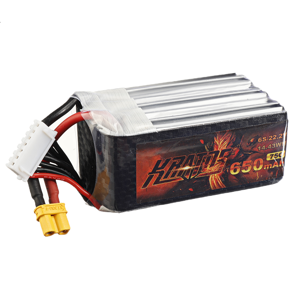 HGLRC KRATOS 22.2V 650mAh 75C 6S Lipo Battery XT30 Plug for RC Racing Drone