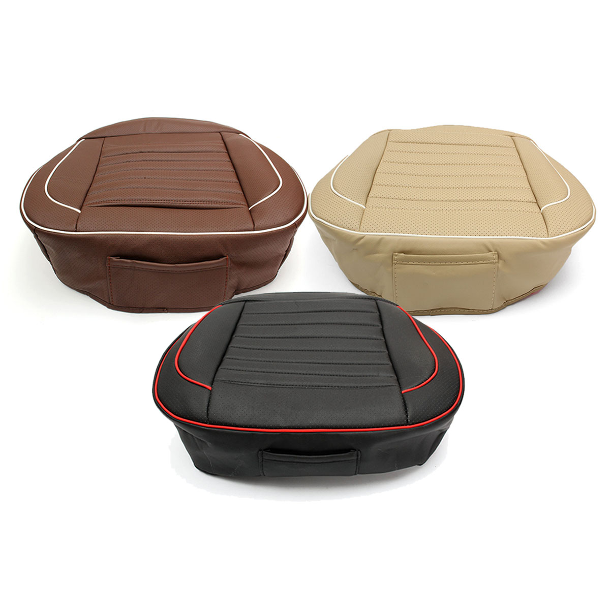 50x52cm Car Seat Cover PU Leather Auto Chair Cushion Mat Buckwhear Shell Filling 1Pcs Universal