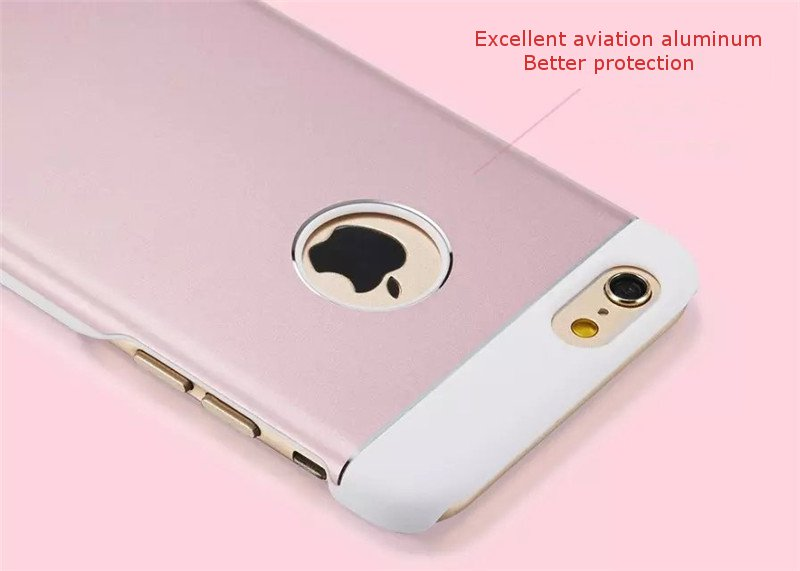 Grander Metal Aluminum Frame PC Hard Protective Case Cover For Apple iPhone 6 6S