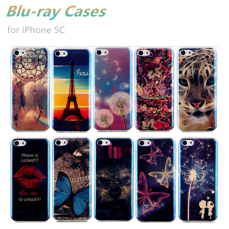 Ultra Thin Blue Ray Soft TPU Gel Silicon Blue Light Protector Cases For iPhone 5C