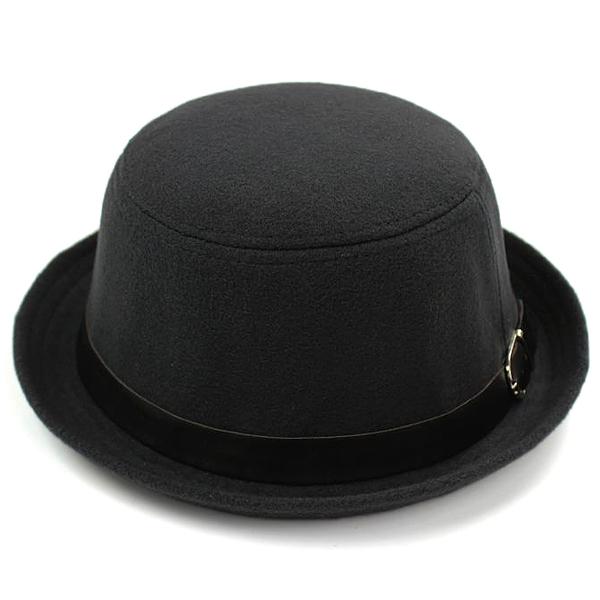 Ladies Hat Korean Version Stylish Woolen Solid Little Dome British Retro Cap