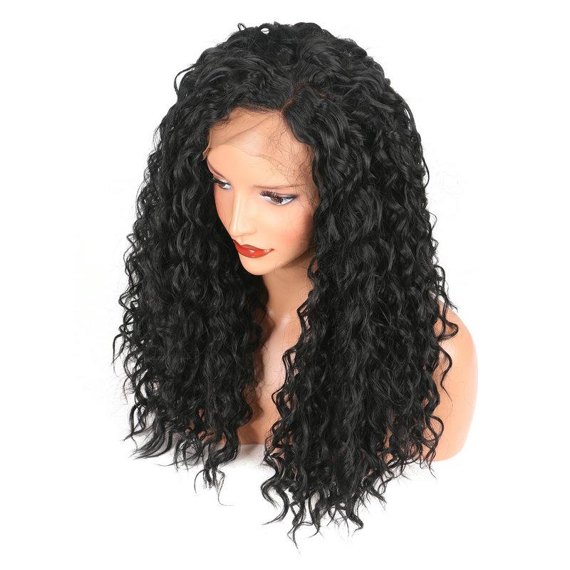 Black African High Temperature Silk Fiber Wig