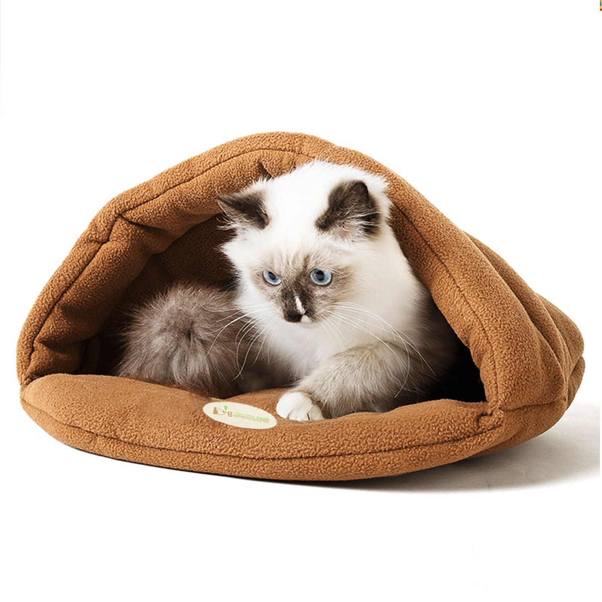 S/M/L/XL Puppy Pet Cat Dog Nest Bed Soft Warm Sleeping Cave House Mat Washable