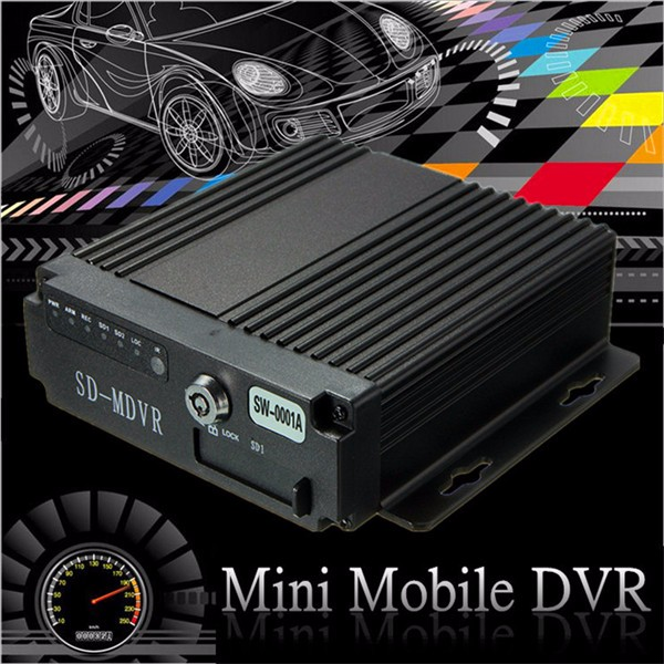4CH Car Vehicle AHD Mobile DVR Real Time Video Audio Recorder SD Card With Remote
