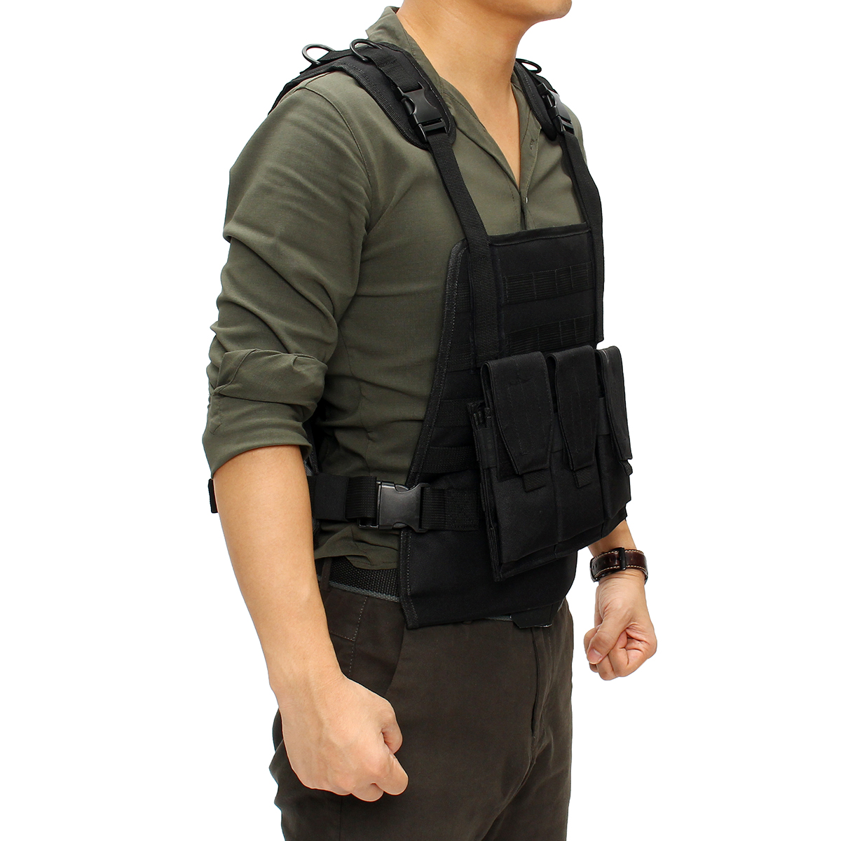 Outdoor Hunting Military Tactical Vest Body Armor Jungle Equipment Plate Carrier With Pouches