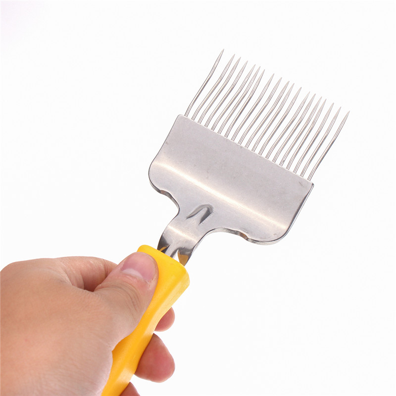 Stainless Steel Bee Keeping Honey Comb Beekeeping Tine Uncapping Fork Scratcher