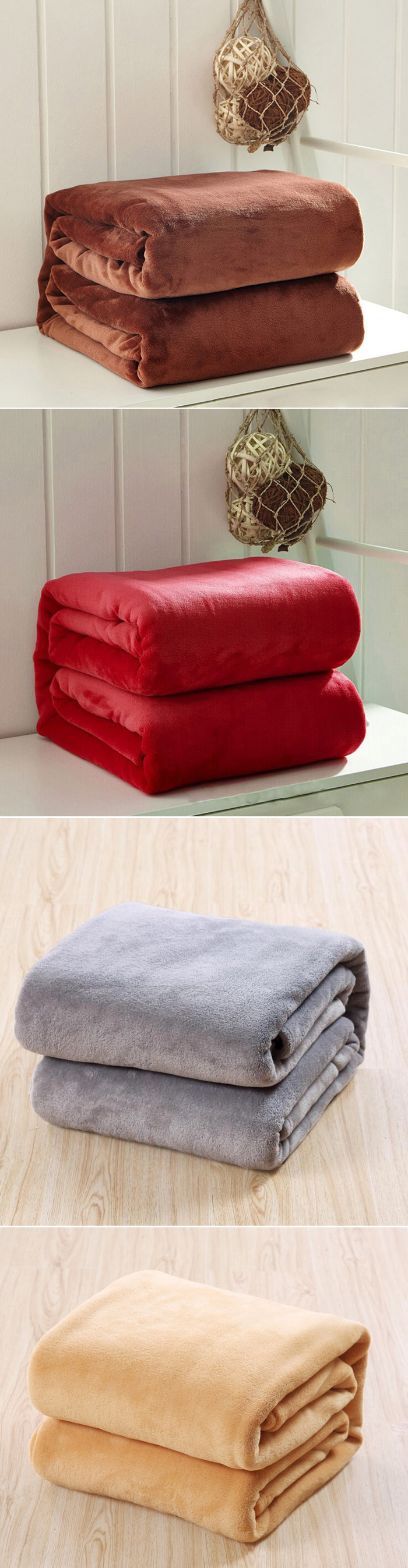 100x150cm Coral Fleece Blanket Sofa Bed Bedding Warm Soft Quilt