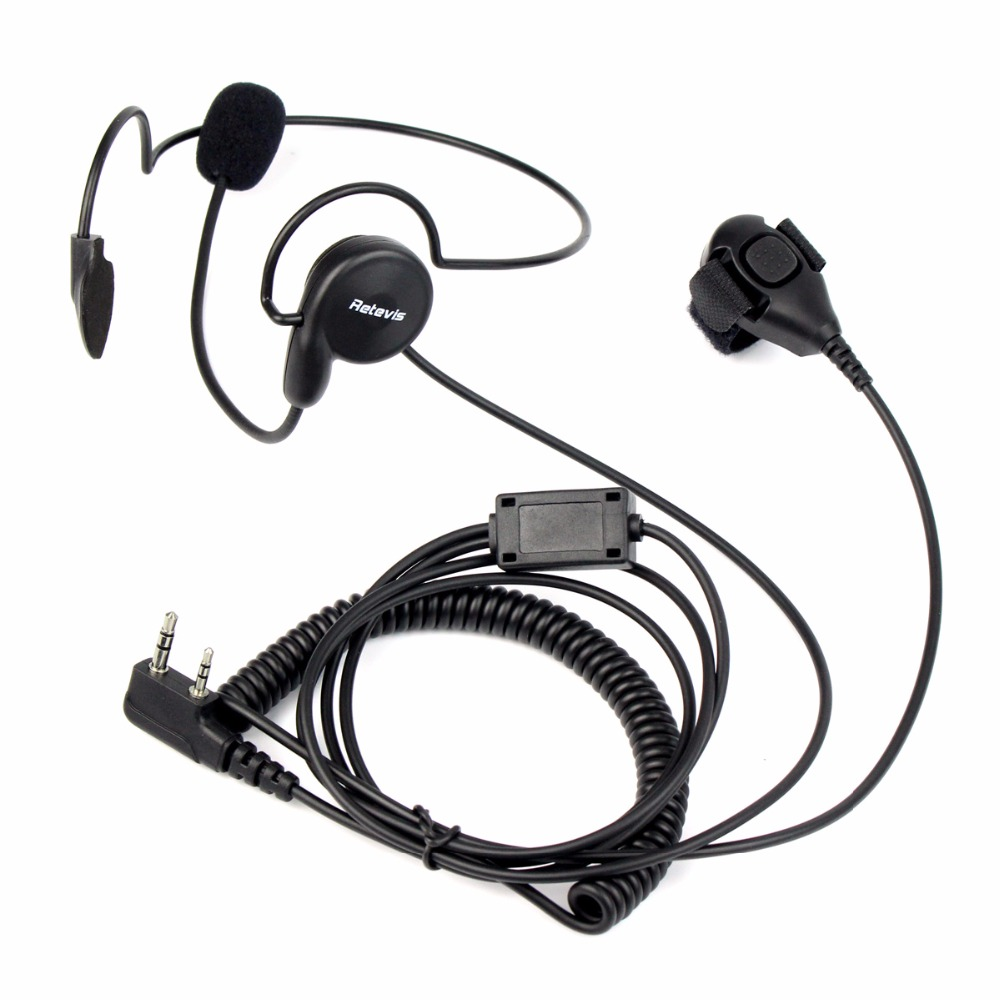 Retevis 2 Pin Earpiece H-777 RT-5R Mic Finger PTT Headset for Kenwood BAOFENG UV-5R BF-888s Ham Radio Hf Transceiver C9029A