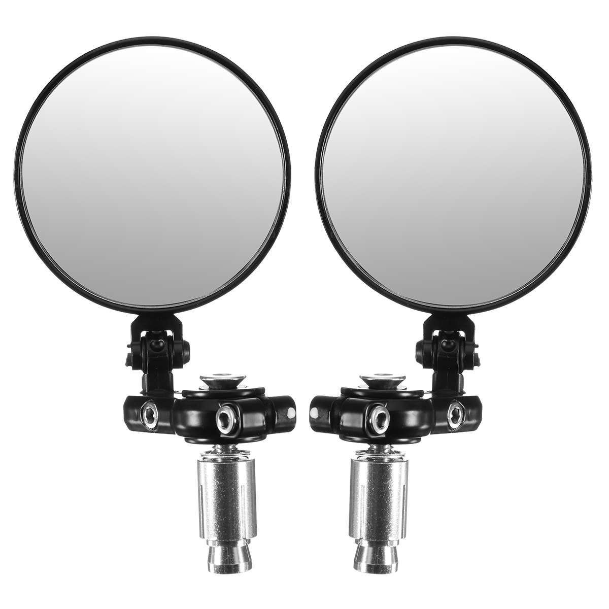 7/8inch Foldable Motorcycle Aluminum 3inch Round Handlebar End Rear View Mirrors