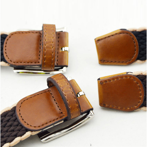 Mens Women Stretch Braided Elastic Belt Casual Pin Leather Buckle Strap Waistband