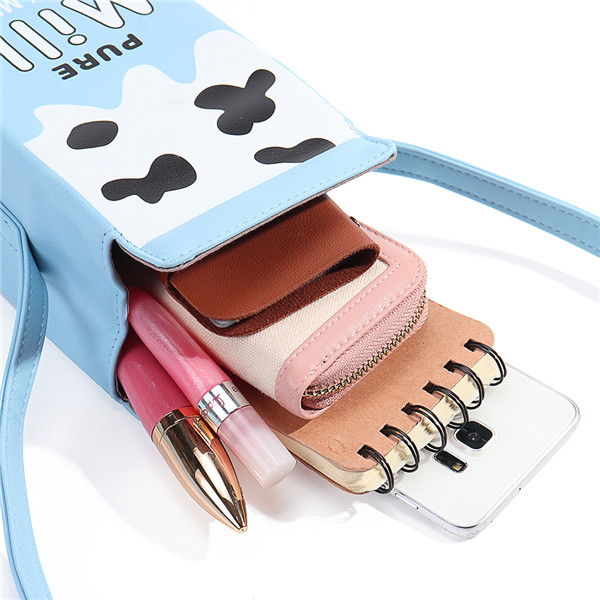 Women Cute Milk Box Crossbody Bag