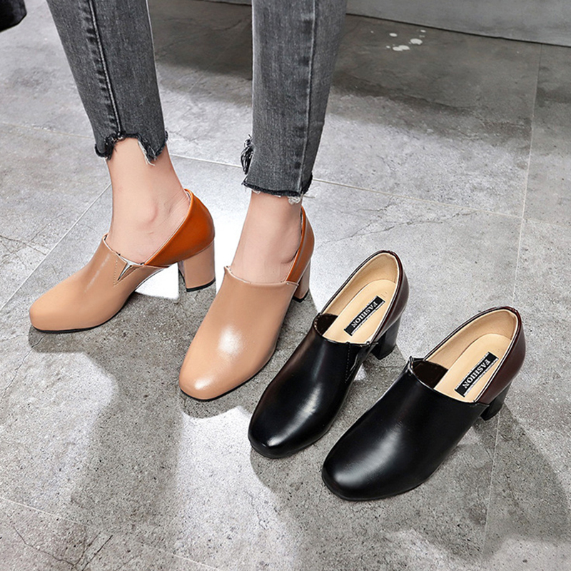 Women Stitching Slip On Casual Pumps Leisure Shoes
