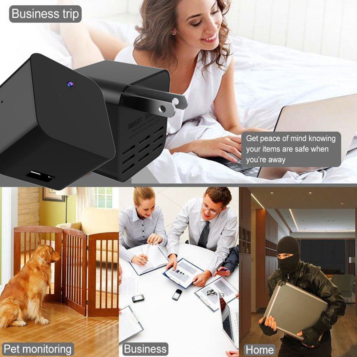 BIKIGHT HS5 WiFi 1080P HD Vlog Camera for Youtube USB Charger Infrared Light Night Vision Video Recorder