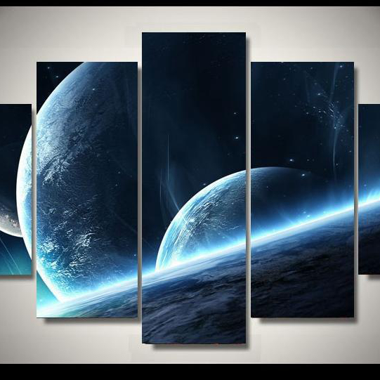 5  Cascade Cosmic Star Connection Picture Canvas Wall Painting Picture Home Decoration Without Frame
