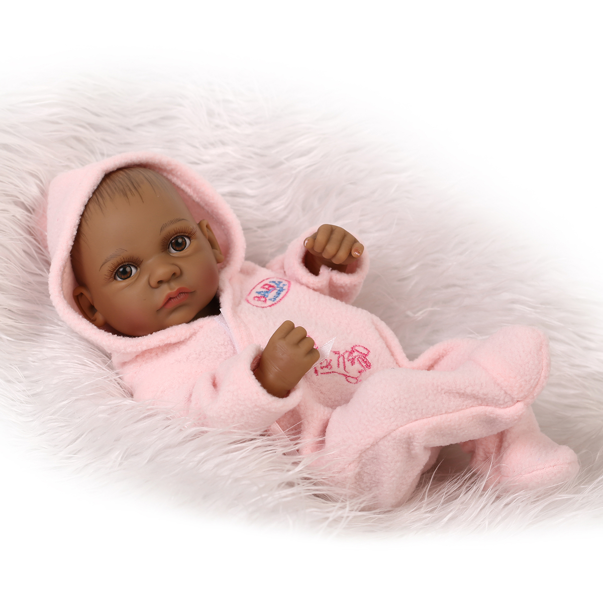 11inch African Reborn Baby Doll Silicone Lifelike Baby Play House Toy