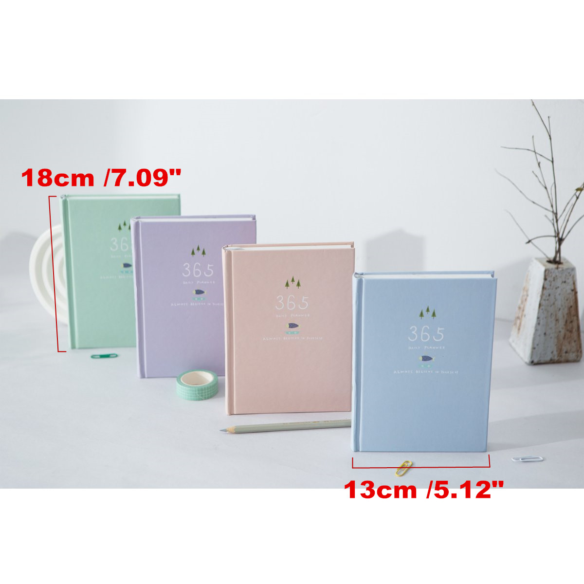 365 Days Diary Notebook TO DO List Schedule Planner Journal Agenda Notepad Office School Supplies