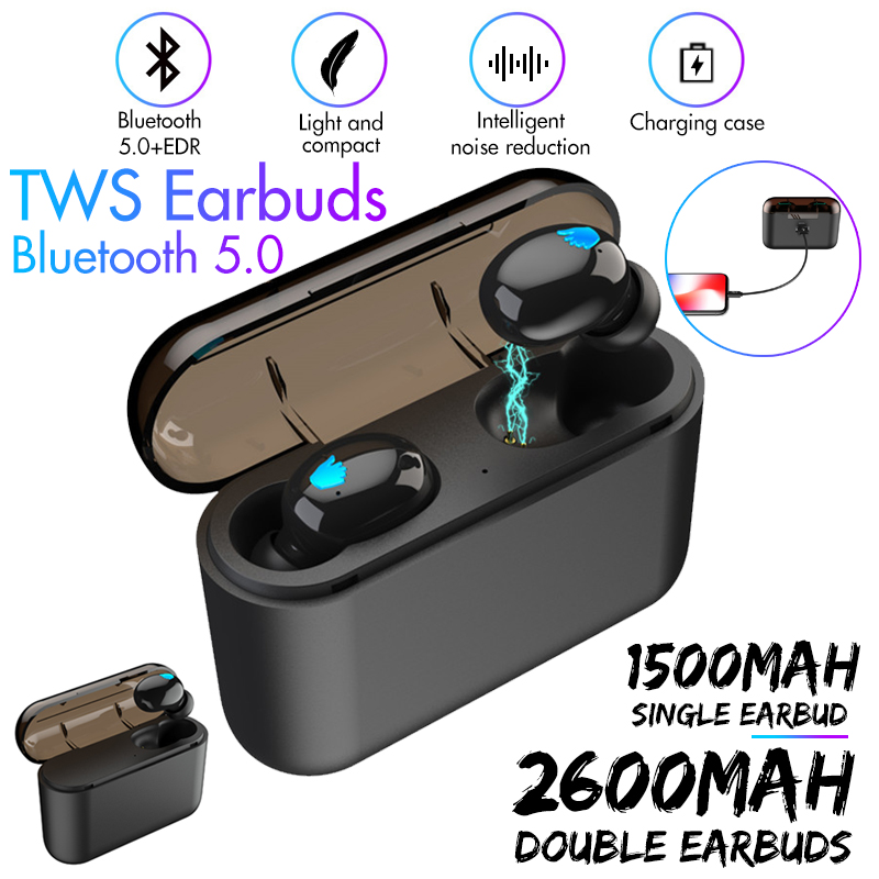 Portable True Wireless TWS Single Earbuds bluetooth 5.0 Stereo In-ear Sport Earphone With Mic for Smartphones