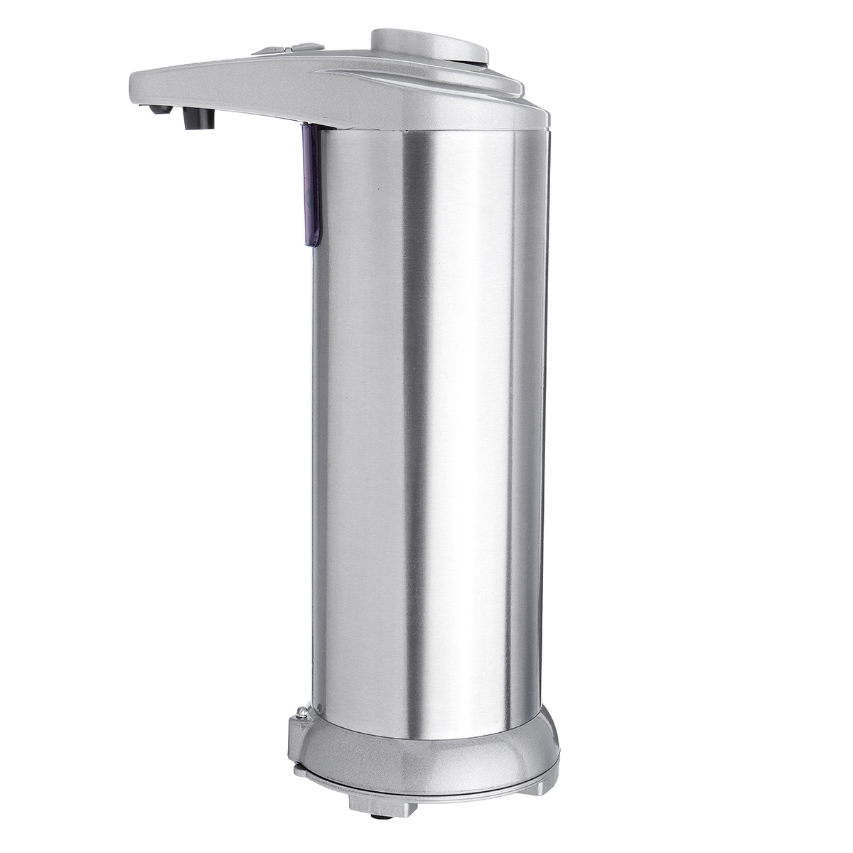 Touch Sensing Automatic Stainless Steel Silver Soap Dispenser 3 Adjustable Volume Settings 250ml Capacity