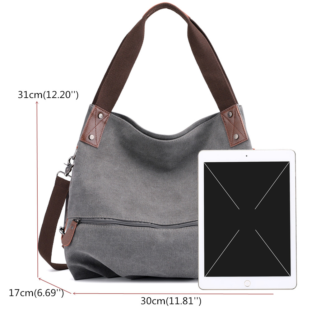 KVKY Canvas Tote Handbag Minimalist Fashion Summer Shopping Bag Shoulder Crossbody Bag