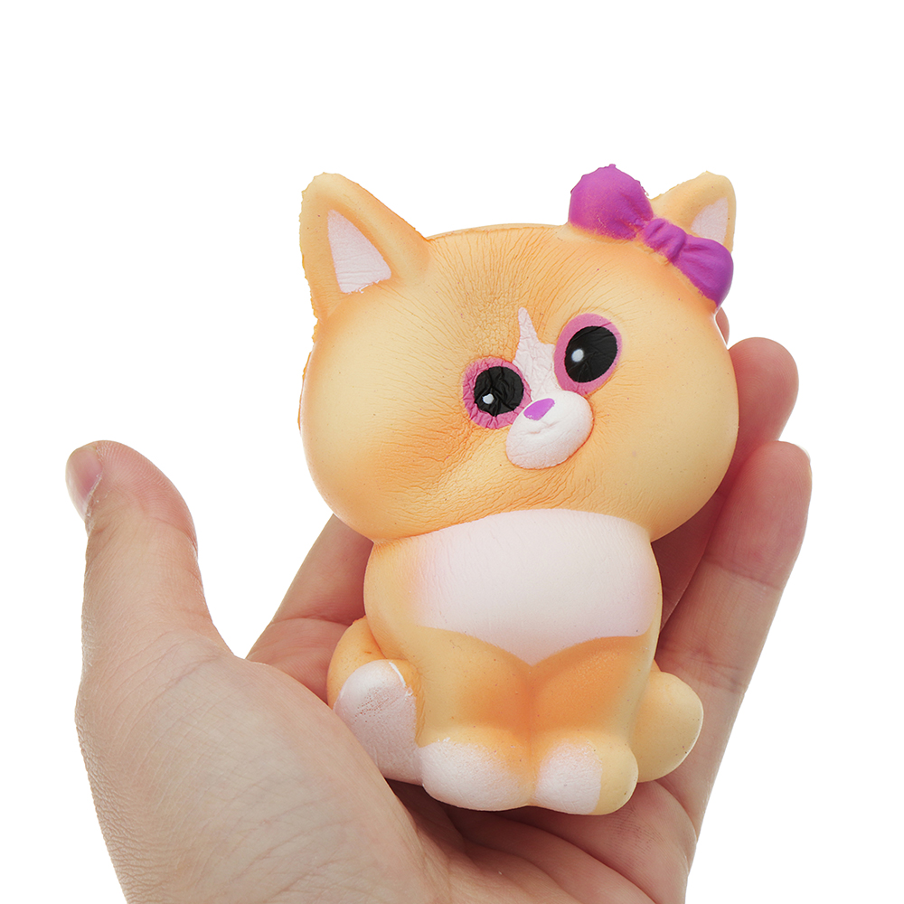 Yellow Cat Squishy 10*6CM Slow Rising With Packaging Collection Gift Soft Toy