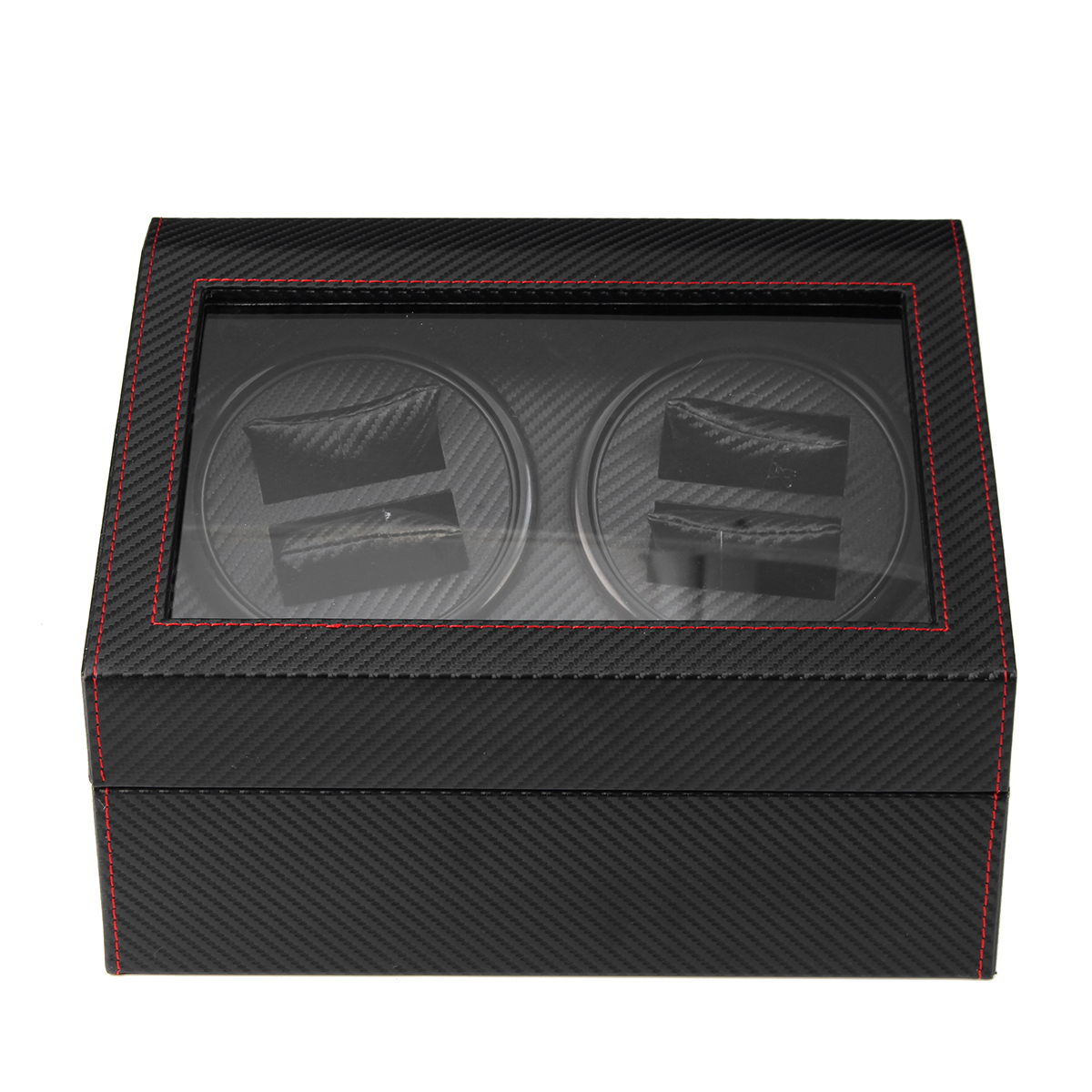 Automatic Watch Winder Carbon Fiber Jewelry Storage Case Watches Display Box