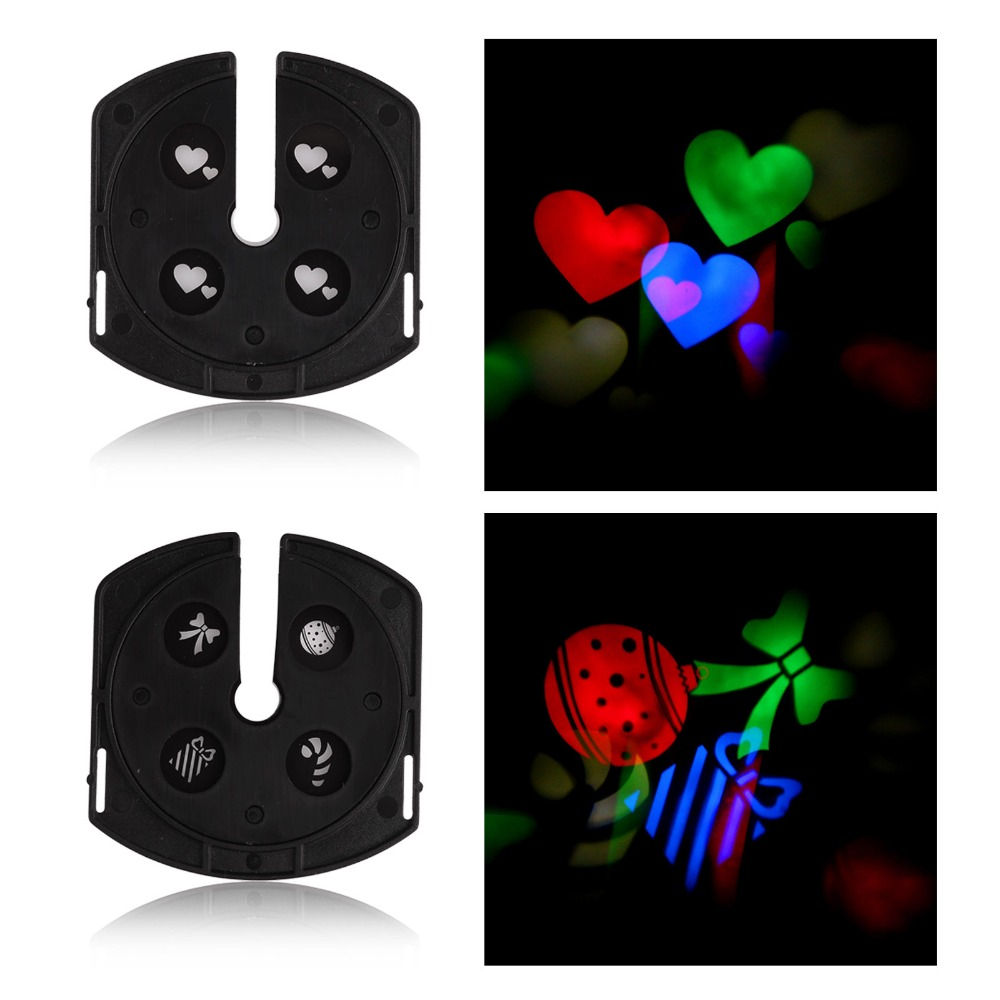 4RGB 3W Two Patterns LED Logo Laser Projector Stage Light for Xmas Disco Bar Party Club