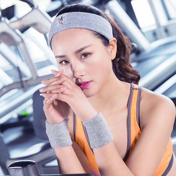 Women Sports Cotton Sweat Headband Breathable Fitness Running Hairband