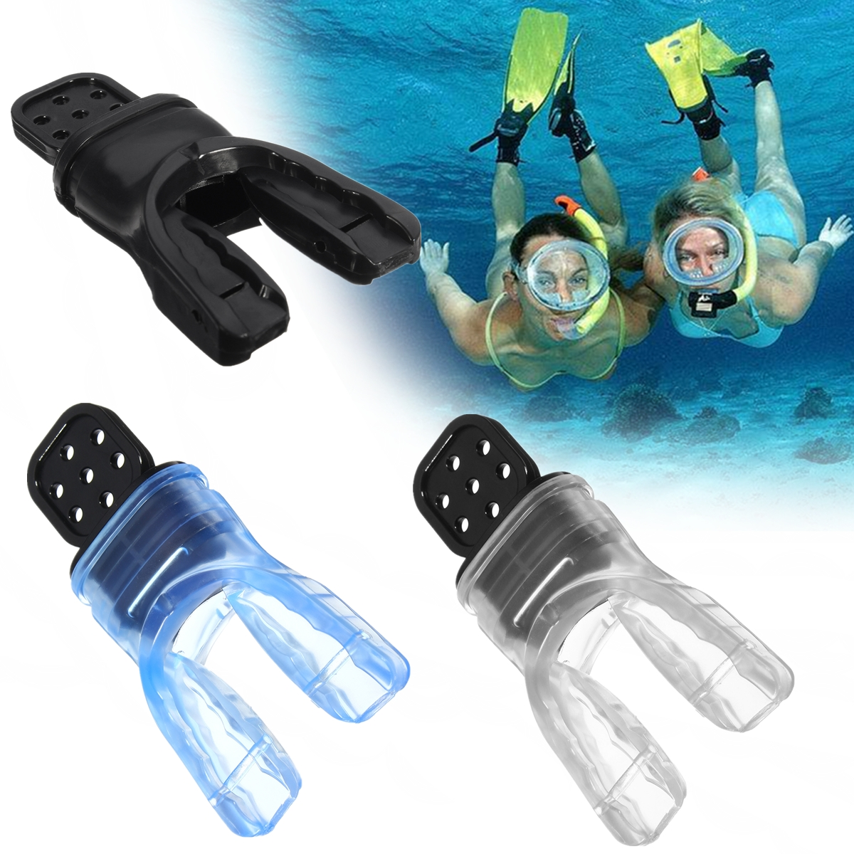 Silicone Scuba Diving Dive Snorkel Bite Standard Mouthpiece Octopus Regulator