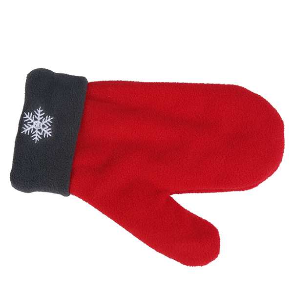 Men Women Polar Fleece Couple Gloves Winter Warm Lovers Double Glove Christmas Gift