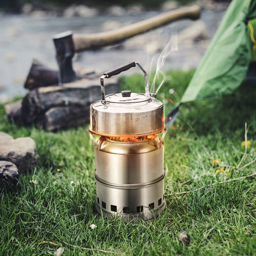 Xmund XD-ST5 Outdoor Mini Cooking Stove Stainless Steel Wood Burner Furnace Cooker Camping Picnic