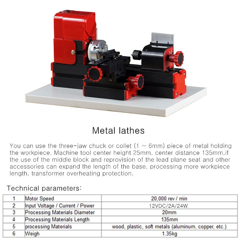 Raitool™ 8 In 1 Mini Multipurpose Machine DIY Woodwork Model Making Tool Lathe Milling MachineKit