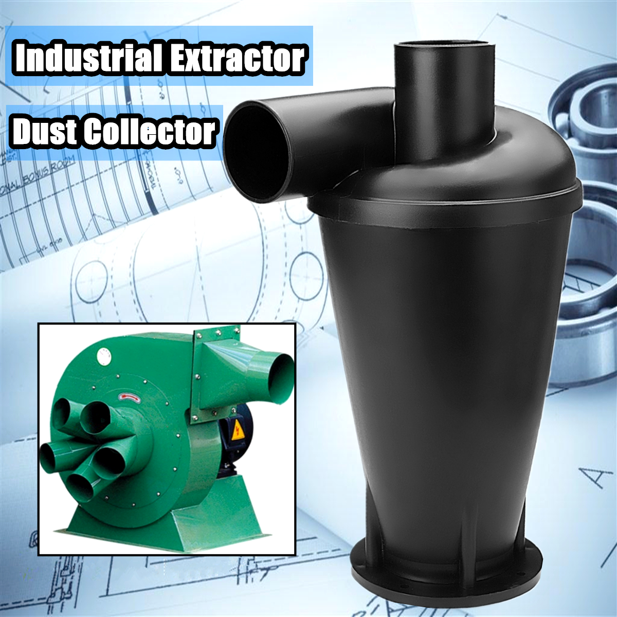 Industrial Extractor Dust Collector Woodworking Vacuum Cleaner Filter Dust Separation