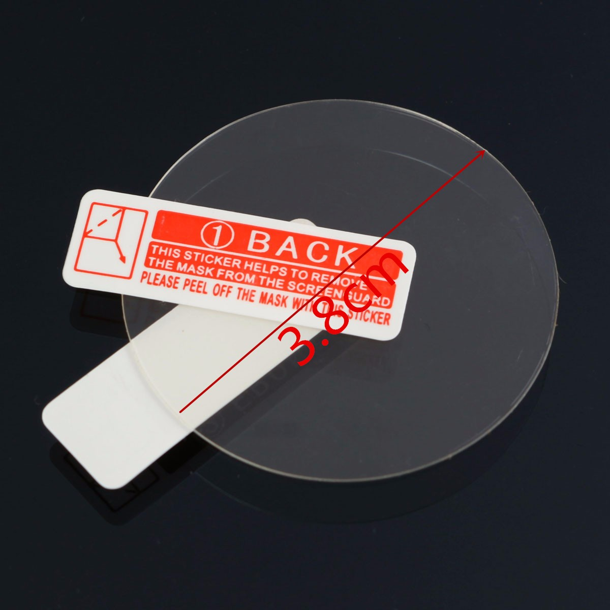38mm Anti-Scratch Clear Screen Protector Film Shield Cover For LEMFO LES1 LEMFO LEM5 PRO I4 AIR