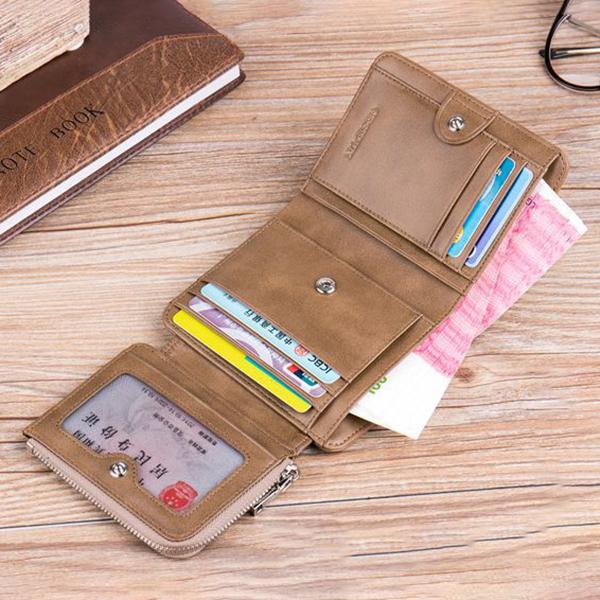 Genuine Leather Multi-functional 13 Card Slots Wallet