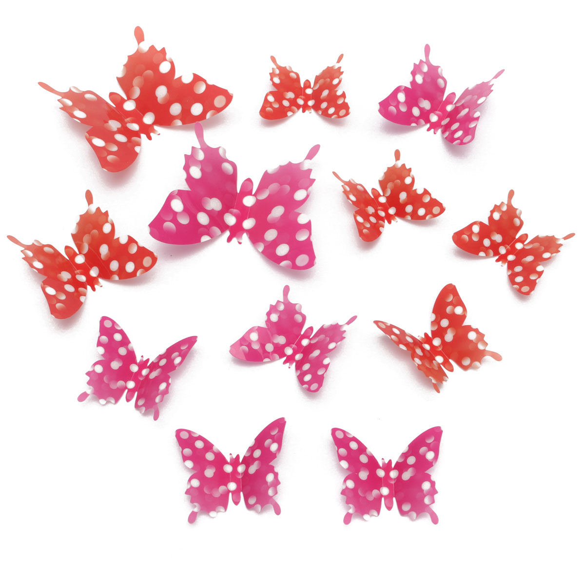 12Pcs 4 Colors 3D Butterfly Art Decal Girls Home Room Wall Window Door Stickers Decorations Decors