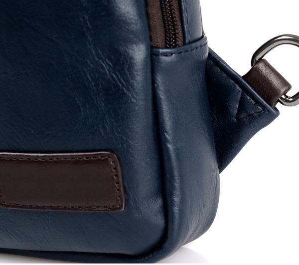 Men PU Crossbody Bag Capacity Leisure Shoulder Bag