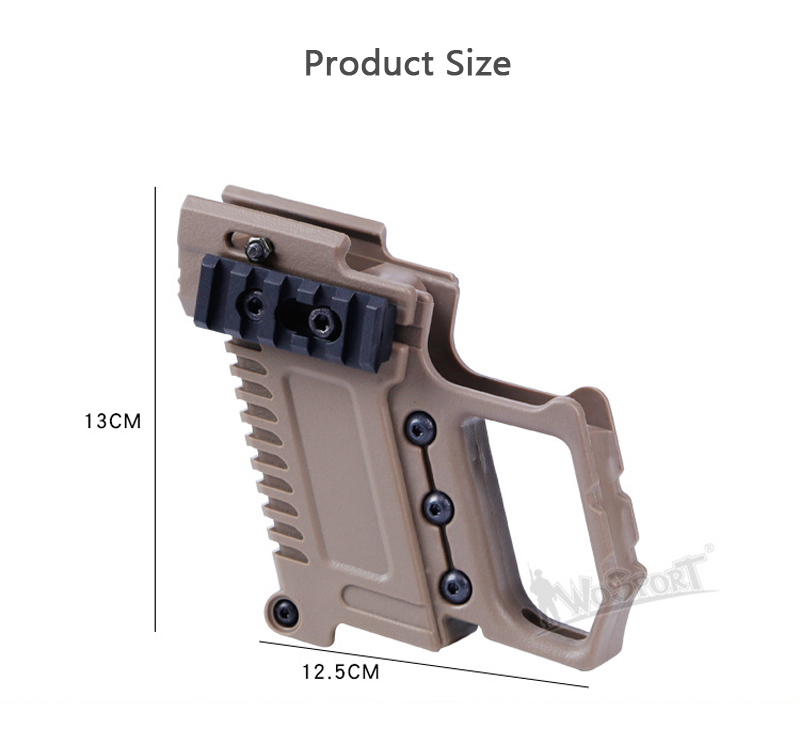 KALOAD GB37 Tactical Air Gun Equipment Carbine Kit Mount For CS G17 18 19 Airsoft Water Cannon