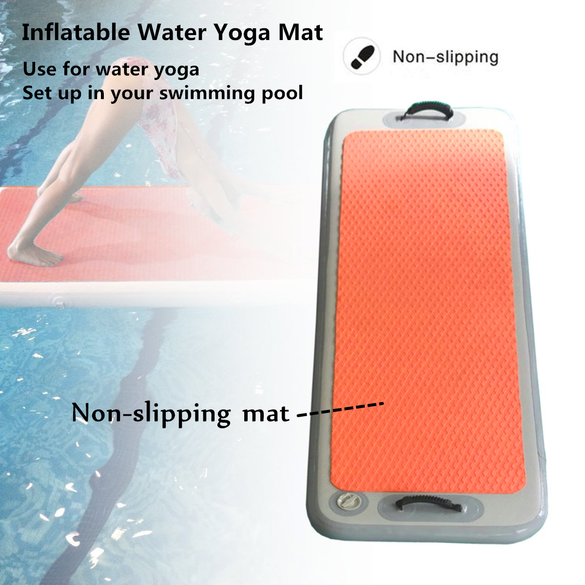 79x24x4inch Gym Air Track Floor Pad Home Gymnastics Tumbling Inflatable Rolling