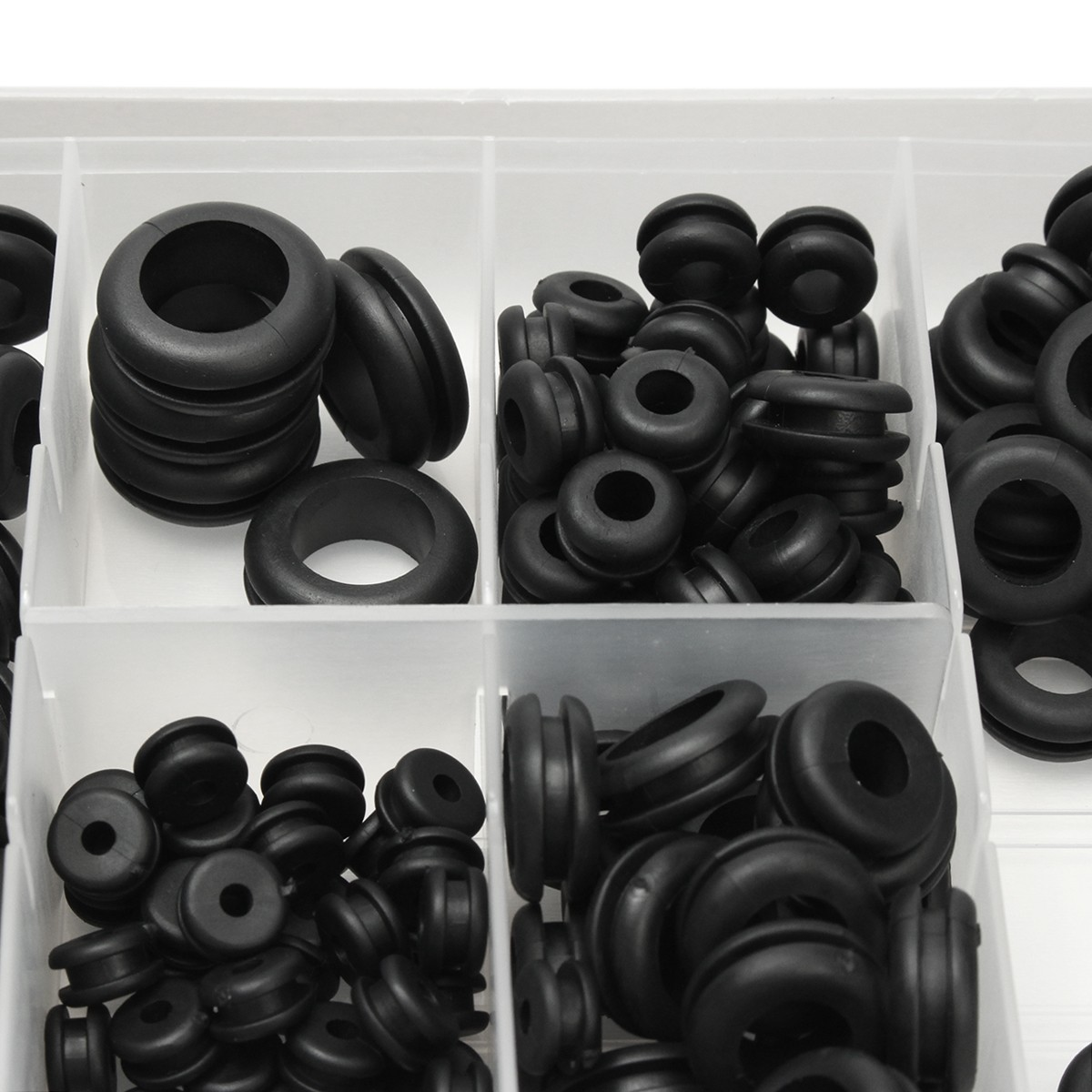 180Pcs Rubber Electrical Wire Gasket O-Ring Grommet Waterproof Washer