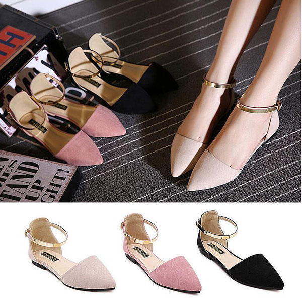 Women Pointed Toe Soft Sole Casual Slip On Flat Loafers