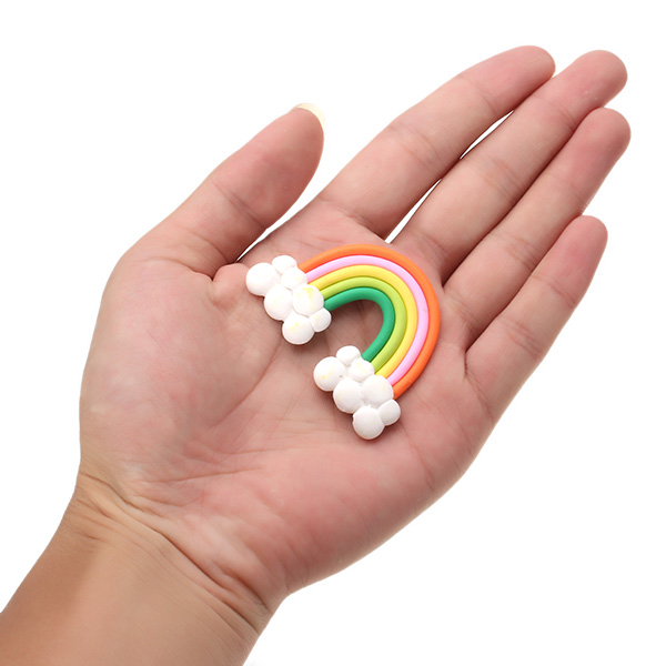 Simulation Cream Jelly Soft Rainbow Cloud Creamy DIY Phone Shell Material Jewelry Accessories