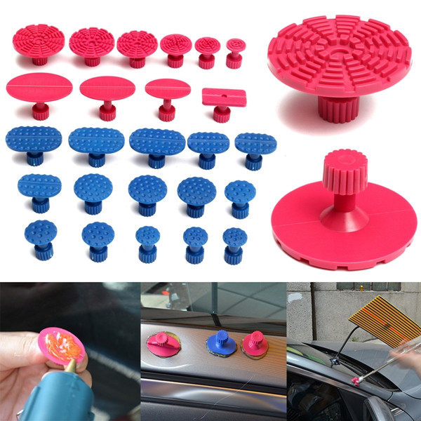 25pcs Car Dent Repair Pulling Tabs Paintless Body Slide Damage Removal Tool