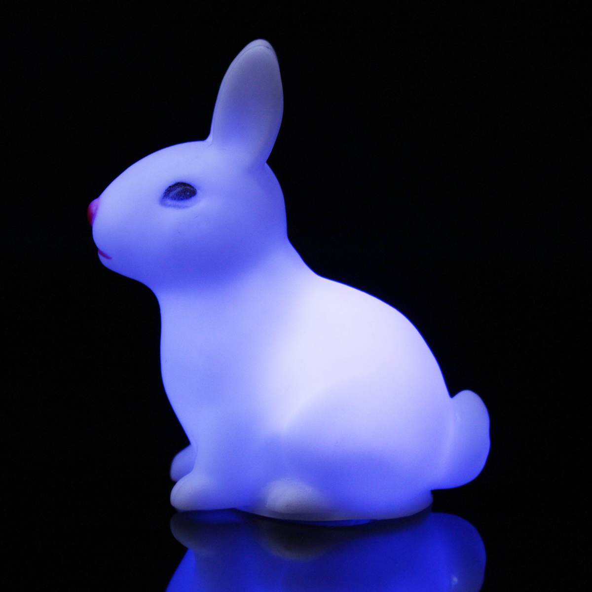 Color Changing LED Night Light Tiny Small Rabbit Lamp Children Kid Gift Toy