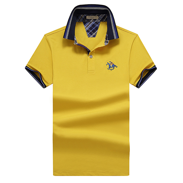 Big Size Turn-down Collar Embroidery T-shirt Mens Golf Shirt